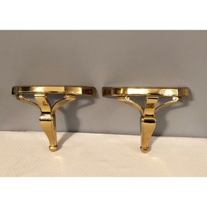 2 Home Interiors Gold Wall Shelves